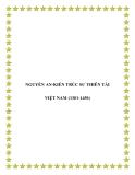NGUYỄN AN-KIẾN TRÚC SƯ THIÊN TÀI VIỆT NAM (1381-1456)