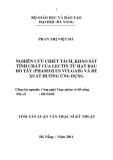 Luận văn: Nghiên cứu chiết tách, khảo sát tính chất của lectin từ hạt đậu đỏ tây (phaseolus vulgais) và đề xuất hướng ứng dụng
