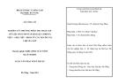 Luận văn:Nghiên cứu phương pháp thu thập tập dữ liệu song song (parallel corpus)Việt-Anh, Việt-Pháp từ các nguồn tài liệu đa ngữ