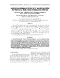 Nghiên cứu ảnh hưởng của một số biện pháp kỹ thuật đến sinh trưởng, phát triển của hoa Tô Liên