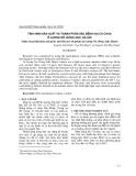Tình hình sản xuất và thành phần sâu bệnh hại cà chua ở Lương Nỗ, Đông Anh, Hà Nội
