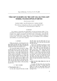 """Báo cáo """"Tổng hợp và nghiên cứu tính chất của các phức chất niken(II), paladi(II) dipivaloylmetan """""""