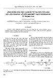 """Báo cáo """" Lắng đọng hóa học cácbon từ pha hơi (CVD) vào vật liệu graphit lỗ xốp nanomet tạo pyrographit tỷ trọng cao """""""