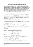 Các bài toán PT-HPT liên quan đến tham số