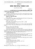 VẬT LÝ KIẾN TRÚC - Phần 1: Môi Trường Nhiệt Ẩm