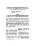 Nghiên cứu xác định lượng phân bón NPK hợp lý cho giống lạc L23 trồng xen với mía trong điều kiện có che phủ nilon vụ xuân 2006 - 2008 tại vùng trung du miền núi Thanh Hoá