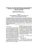 Nghiên cứu quy trình nhân giống hoa cẩm chướng SP25 (Dianthus caryophyllus Make up) bằng phương pháp nuôi cấy mô tế bào