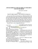 kết quả nghiên cứu chọn tạo giống lúa thơm OM4101 cho các tỉnh Nam Bộ