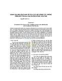 Đánh giá hiệu quả kinh tế của các hệ thống cây trồng trên đất phù sa của huyện Cờ Đỏ, Cần Thơ