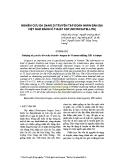 Nghiên cứu đa dạng di truyền tập đoàn nhãn bản địa Việt Nam bằng kĩ thuật SSR (Microsatellite)