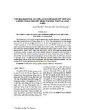 Kết quả đánh giá ưu thế lai và khả năng kết hợp của 8 dòng thuần ngô nếp bằng phương pháp lai luân phiên