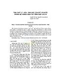 Tính chất lý - hóa - sinh học của đất và nước trong hệ thống canh tác tổng hợp Lúa - Cá