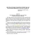 Bảo tồn và sử dụng tài nguyên di truyền thực vật của việt nam trong hợp tác khu vực và quốc tế