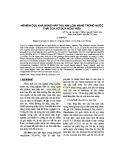 Nghiên cứu khả năng hấp thu kim loại nặng trong nước thải của xơ dừa hoạt hóa