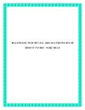 HOẠ SĨ HOÀNG TÍCH CHÙ (1912 - 2003) VÀ GIẢI THƯỞNG HỒ CHÍ MINH VỀ VĂN HỌC - NGHỆ THUẬT