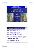 QUẢN TRỊ DỰ ÁN - CHƯƠNG II : KHỞI ĐẦU DỰ ÁN