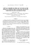 """Báo cáo """" Chế tạo và nghiên cứu tính chất vật liệu polyme nanoclay compozit trên cơ sở blend của cao su thiên nhiên và cao su butadien styren """""""