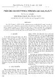 """Báo cáo """" Phản ứng oxi hoá phenol trên điện cực SnO2-Sb2O5/Ti """""""