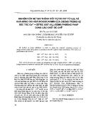 """Báo cáo """" Nghiên cứu sự tạo thành gốc tự do OH từ H2O2 và khả năng oxi hóa của chúng trong hệ xúc tác Co2++ xitric axit (H4L) bằng phương pháp dùng các chất ức chế """""""