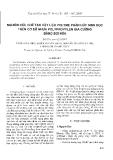 """Báo cáo """" Nghiên cứu chế tạo vật liệu polyme phân hủy sinh học trên cơ sở nhựa polypropylen gia cường bằng sợi nứa """""""