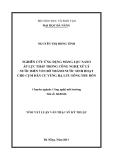 Luận văn:NGHIÊN CỨU ỨNG DỤNG MÀNG LỌC NANO ÁP LỰC THẤP TRONG CÔNG NGHỆ XỬ LÝ NƯỚC BIỂN VEN BỜ THÀNH NƯỚC SINH HOẠT CHO CỤM DÂN CƯ VÙNG HẠ LƯU SÔNG THU BỒN