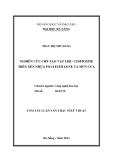 Luận văn: NGHIÊN CỨU CHẾ TẠO VẬT LIỆU COMPOSITE TRÊN NỀN NHỰA POLYETHYLENE VÀ MÙN CƯA