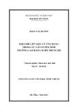 Luận văn: KHAI PHÁ DỮ LIỆU VÀ ỨNG DỤNG TRONG TƯ VẤN TUYỂN SINH TRƯỜNG CAO ĐẲNG NGHỀ TRUNG BỘ