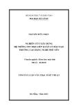 Luận văn:NGHIÊN CỨU XÂY DỰNG HỆ THÔNG TIN TRỢ GIÚP QUẢN LÝ ĐÀO TẠO TRƯỜNG CAO ĐẲNG NGHỀ PHÚ YÊN