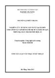 Luận văn:NGHIÊN CỨU ÁP DỤNG SẢN XUẤT SẠCH HƠN CHO LĨNH VỰC KINH DOANH DỊCH VỤ KHÁCH SẠN TRÊN ĐỊA BÀN THÀNH PHỐ HỘI AN