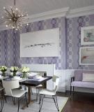 Màu hoa oải hương trang trí tường ấn tượng