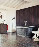 Cách phối 2 màu đen trắng cho phòng tắm