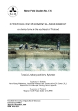 STRATEGIC ENVIRONMENTAL ASSESSMENT on shrimp farms in the southeast of Thailand