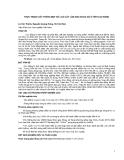 THỰC TRẠNG GÂY TRỒNG MỘT SỐ LOÀI CÂY LÂM SẢN NGOÀI GỖ Ở TỈNH CAO BẰNG
