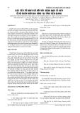 CÁC YẾU TỐ NGUY CƠ ĐỐI VỚI BỆNH DỊCH TẢ HEO Ở HỘ CHĂN NUÔI GIA ĐÌNH TẠI TỈNH TIỀN GIANG
