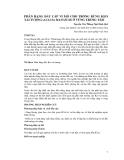 PHÂN HẠNG ĐẤT CẤP VI MÔ CHO TRỒNG RỪNG KEO TAI TƯỢNG (ACACIA MANGIUM) Ở VÙNG TRUNG TÂM