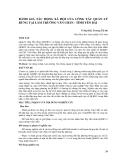 ĐÁNH GIÁ TÁC ĐỘNG XÃ HỘI CỦA CÔNG TÁC QUẢN LÝ RỪNG TẠI LÂM TRƯỜNG VĂN CHẤN - TỈNH YÊN BÁI
