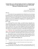 ẢNH HƯỞNG CỦA MỘT SỐ NHÂN TỐ HOÀN CẢNH ĐẾN KHẢ NĂNG TÁI SINH VÀ SINH TRƯỞNG CỦA CÂY GIỔI XANH (MICHELIA MEDIOCRIS DANDY)