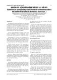 NGHIÊN CỨU BIỆN PHÁP PHÒNG TRỪ RỆP SÁP GIẢ DỨA Dysmicoccus brevipes Cockerell (Homoptera: Pseudococcidae) TRÊN CÂY MÃNG CẦU XIÊM (Annona muricata L.)