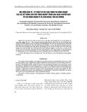"""Báo cáo """"Đặc điểm kinh tế - kỹ thuật và các hoạt động phi nông nghiệp của các hệ thống sản xuất nông nghiệp trong giai đoạn chuyển dịch cơ cấu nông nghiệp ở xã Cẩm Hoàng, tỉnh Hải Dương """""""