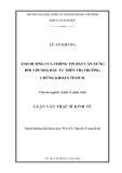 Luận văn:ẢNH HƯỞNG CỦA THÔNG TIN BẤT CÂN XỨNG ĐỐI VỚI NHÀ ĐẦU TƯ TRÊN THỊ TRƯỜNG CHỨNG KHOÁN TP.HCM