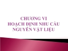 Bài giảng Quản trị tác nghiệp ( Đào Minh Anh) - Chương 6 Hoạch định nhu cầu nguyên vật liệu