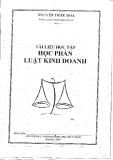 Tài liệu học tập Luật kinh doanh - Nguyễn Triều Hoa