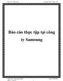 Báo cáo thực tập tại công ty Samsung