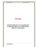 Tiểu luận:  Ngân hàng điện tử và các sản phẩm dịch vụ Ngân hàng điện tử cho khách hàng cá nhân của Techcombank