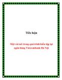Tiểu luận:  Một vài nét trong quá trình kiến tập tại ngân hàng Vietcombank Hà Nội