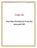 Luận văn: Hoạt động Marketing tại Trung tâm phân phối FHP