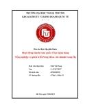 Tiểu luận:Hoạt động thanh toán quốc tế tại ngân hàng Nông nghiệp và phát triểnNông thôn- chi nhánh Láng Hạ