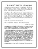Truyện ngắn THÀNH PHỐ TÌNH YÊU VÀ NỖI NHỚ