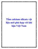 Tấm calcium silicate vật liệu mới phù hợp với khí hậu Việt Nam