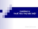 Chương IV - Thuế tiêu thụ đặc biệt - Nguyễn Thu Hằng